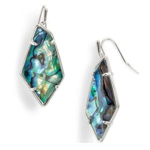 Kendra Scott Emmie Earrings Abalone Rhodium
